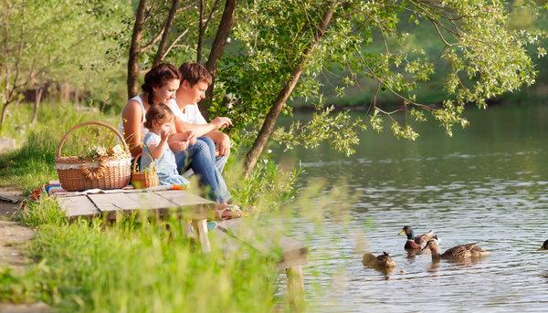 отдых с семьёй на природе