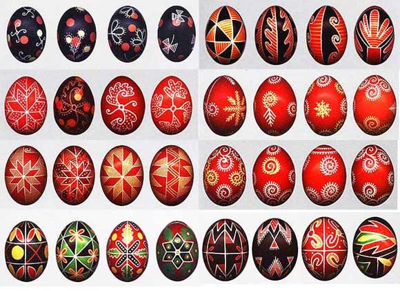 виды писанок на яйцах