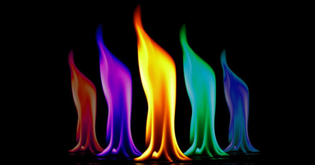Огонь столбом