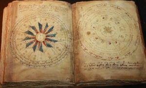 Фрагмент книги рукопись Войнича