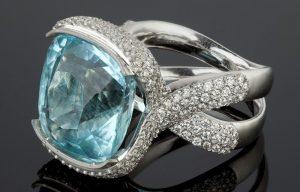 Перстень из аквамарина
