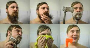 как обрить бороду